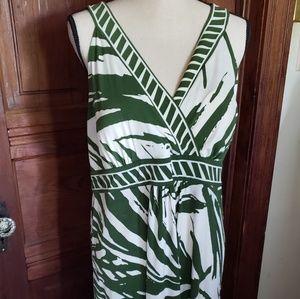 NWT Petite XL Apt 9 Tropical Green/wht Dress